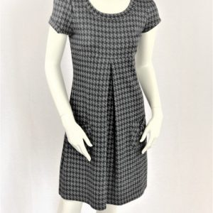 Enfocus Studio Black and Gray Checkered Dress