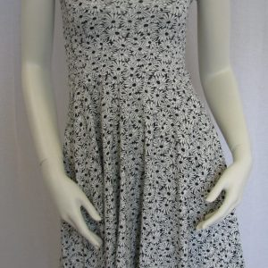 Aeropostale Black & White Floral Print Sundress