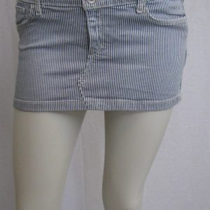 Abercrombie & Fitch NY Blue & White Pinstriped Mini Skirt