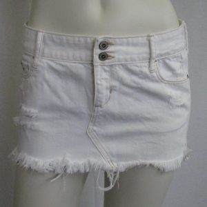 Hollister California White Denim Skirt