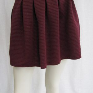 Bethany Mota Burgundy Ribbed Skirt